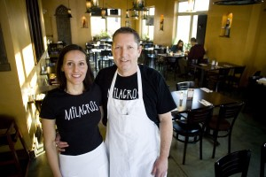 Dave and Sara of Milagros, Best Mexican food near by